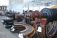 Складирано демонтирано оборудване /диафрагми и ротори/ на външна площадка за временно съхранение