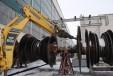 Отстраняване на лопатките от роторите на Цилиндър ниско налягане чрез хидравличен чук